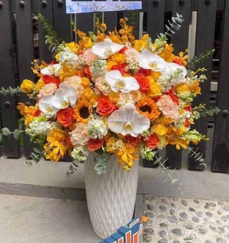 Bình hoa chúc mừng sang trọng cao cấp - LDNK45
