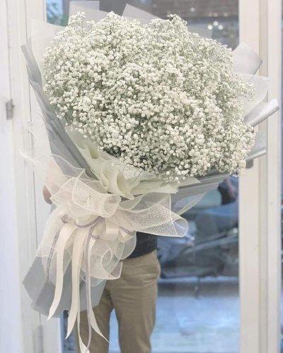 Bó hoa baby trắng khổng lồ tặng người yêu - LDNK38