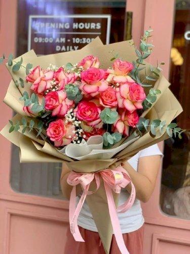 Bó hoa hồng đẹp tặng sinh nhật bạn gái - LDNK58