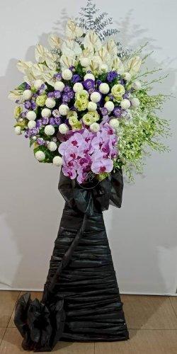 Lẵng hoa chia buồn đám tang trang trọng - LDNK54