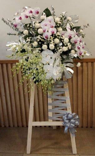 Lẵng hoa để trang trí tiệc phong cách Hàn Quốc - LDNK57