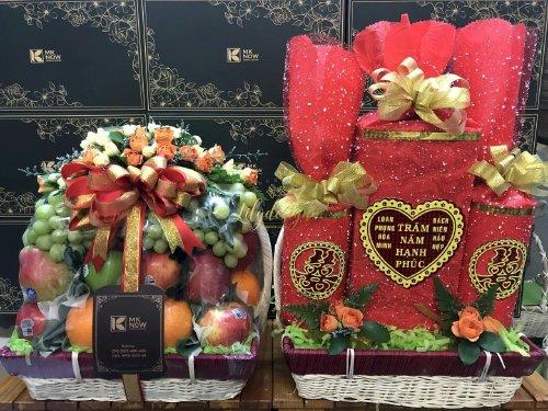 Cặp giỏ quà hoa quả dạm ngõ - DNNK09