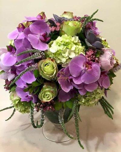 Bình hoa chúc mừng để bàn kỷ niệm ngày cưới - LDNK89