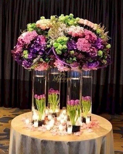 Bình hoa tươi cao cấp trang trí bàn tiệc - LDNK93