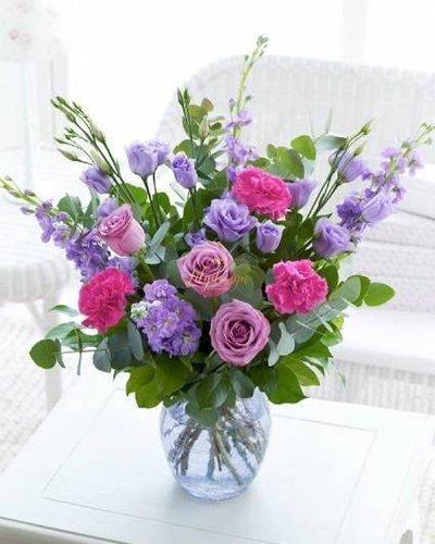 Bình hoa tươi để bàn đẹp - LDNK91