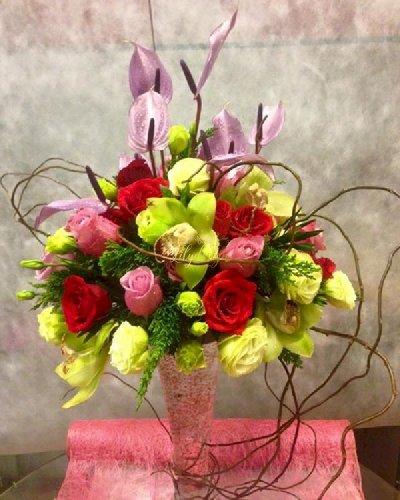 Bình hoa tươi sang trọng, cao cấp chúc mừng sinh nhật - LDNK92