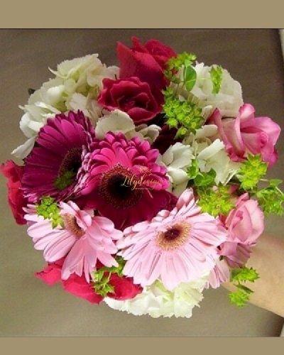 Bó hoa cầm tay cô dâu hoa đồng tiền - LDNK223