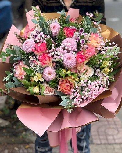 Bó hoa chúc mừng sinh nhật chị gái đẹp - LDNK120