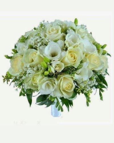 Bó hoa cưới cô dâu màu trắng - LDNK225