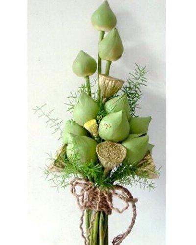 Bó hoa cưới sen cầm tay đẹp tinh khiết - LDNK230