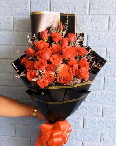 Bó hoa hồng cam chúc mừng sinh nhật - LDNK231