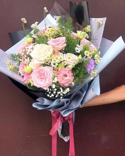 Bó hoa hồng chúc mừng ngày mới - LDNK113