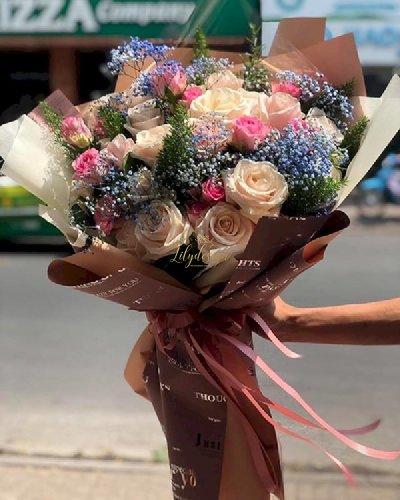 Bó hoa hồng chúc mừng sinh nhật mẹ - LDNK108