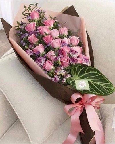 Bó hoa hồng dáng dài tặng bạn gái - LDNK96