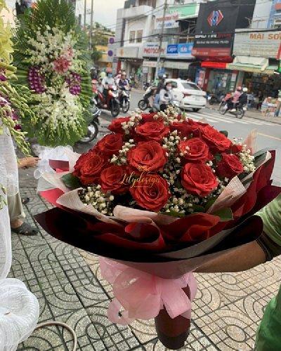 Bó hoa hồng đỏ chúc mừng sinh nhật - LDNK97
