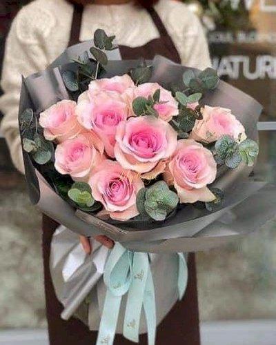 Bó hoa hồng phấn ngọt ngào dành tặng bạn gái - LDNK129