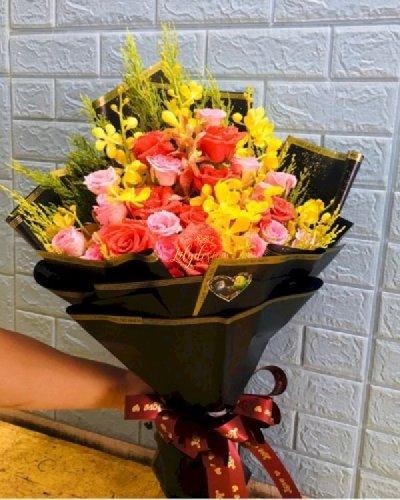 Bó hoa tươi đẹp chúc mừng tình bạn - LDNK233