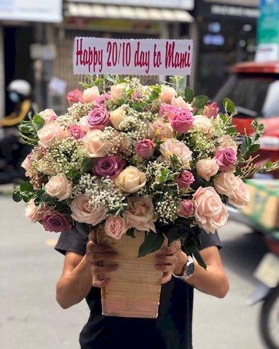 Chậu hoa tặng mẹ mừng ngày 20/11 - LDNK149
