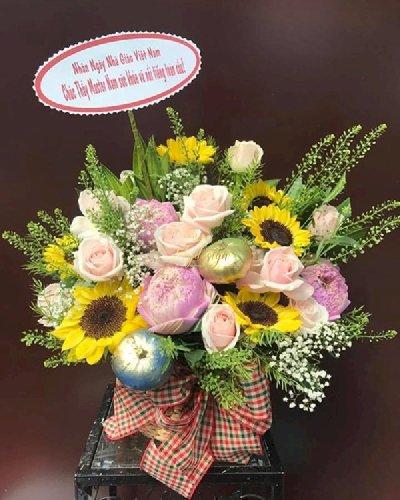 Chậu hoa tặng thầy ngày nhà giáo Việt Nam 20/11 - LDNK150