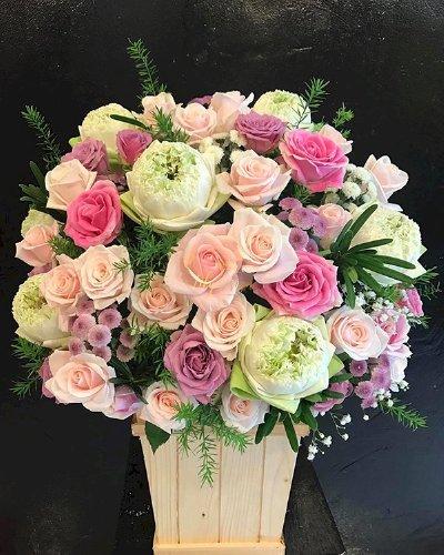 Giỏ hoa chúc mừng đám cưới - LDNK180