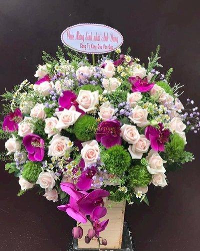 Giỏ hoa chúc mừng sinh nhật sếp nam - LDNK166