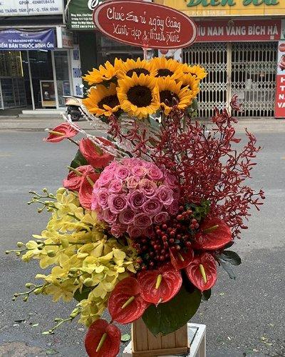 Hộp hoa chúc mừng sinh nhật người yêu - LDNK161