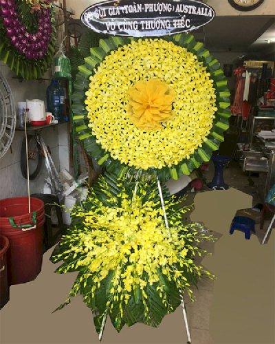 Kệ hoa chia buồn tang lễ lan vàng  - LDNK216