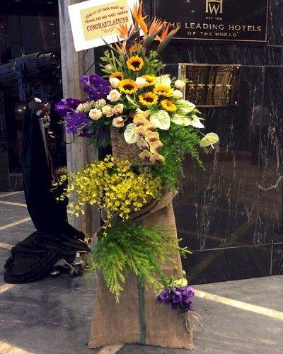 Kệ hoa đẹp chúc mừng khai trương - LDNK201