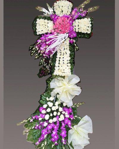 Kệ hoa tang lễ công giáo hình thập giá - LDNK203