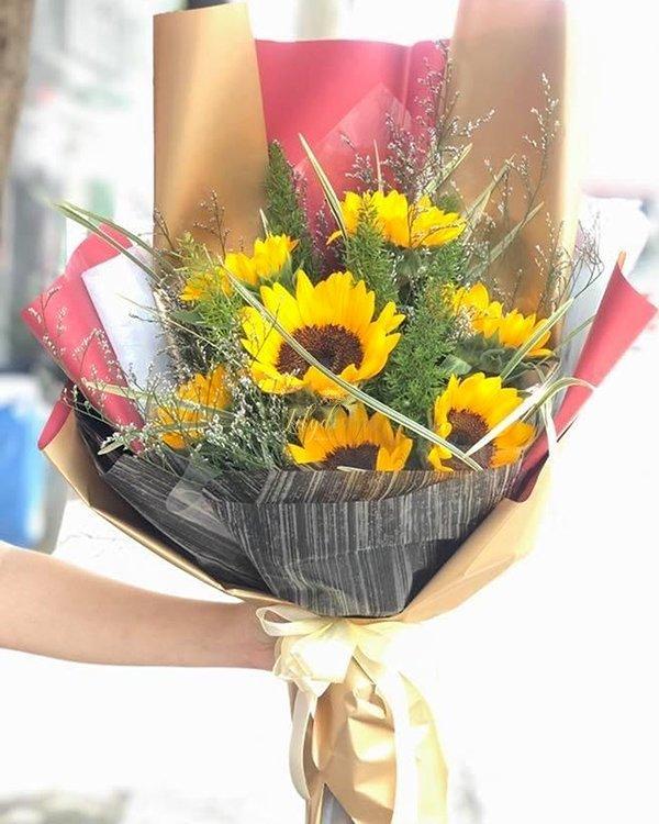 Bó hoa hướng dương 7 bông đẹp - LDNK134