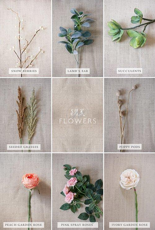 Tự bó hoa cầm tay đám cưới bằng hoa giả
