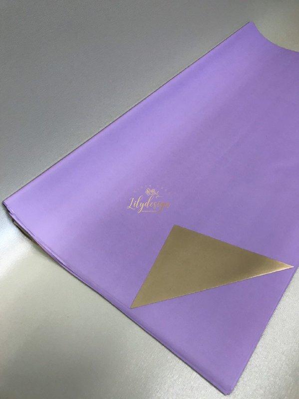 Giấy gói hoa bóng mờ hai mặt trơn màu tím xanh