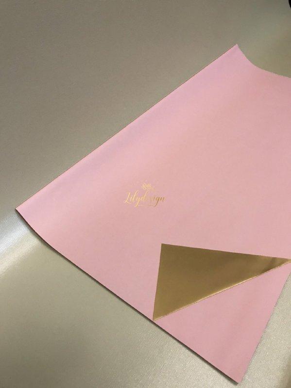Giấy gói hoa bóng mờ hai mặt trơn màu hồng phấn