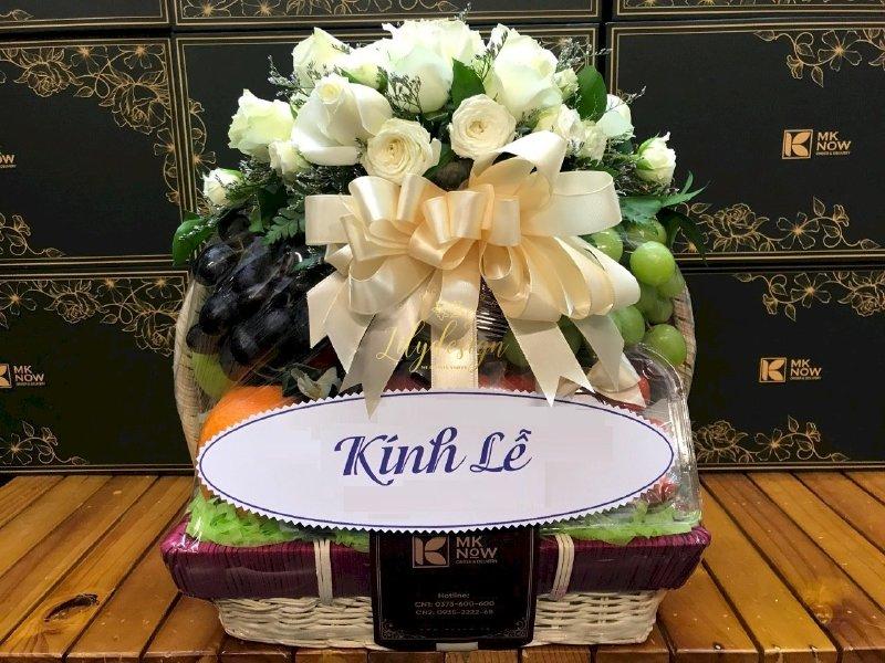 Giỏ hoa trái cây viếng tang - HTNK01