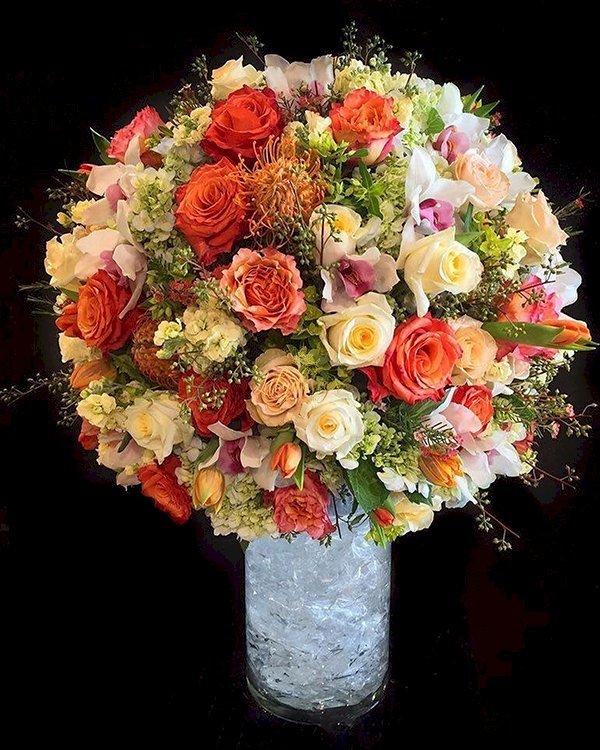 Bình hoa hồng tươi cao cấp sang trọng tinh tế - LDNK86