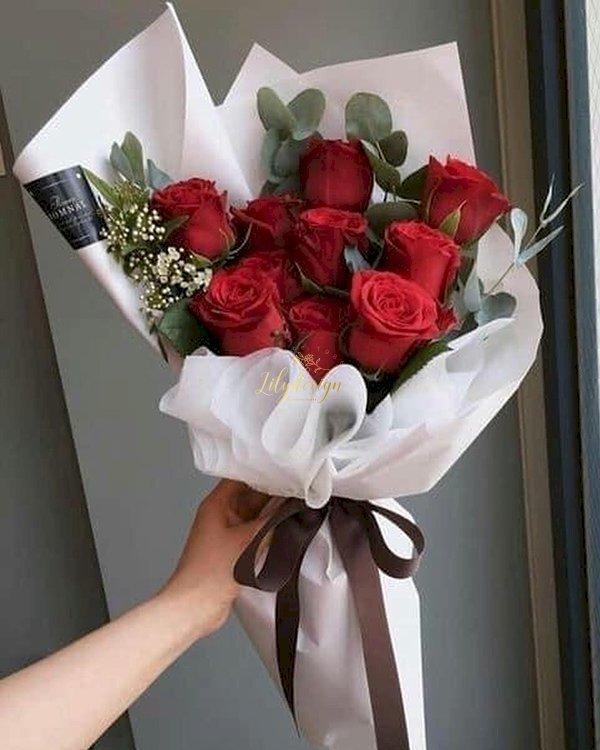 Bó hoa hồng đỏ tặng ngày lễ valentine - LDNK130