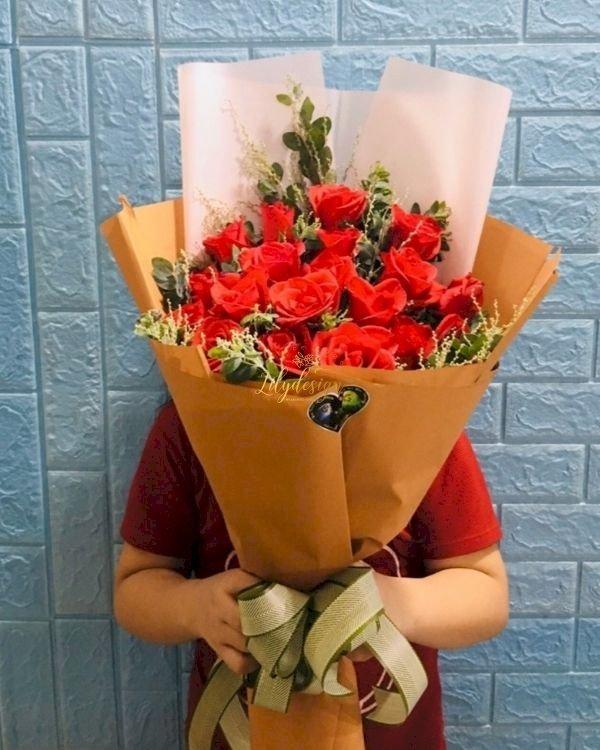 Bó hoa hồng đỏ tặng sinh nhật - LDNK232