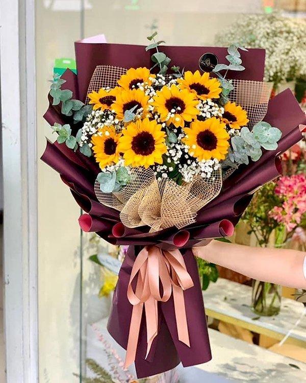 Bó hoa hướng dương mix hoa baby tặng tốt nghiệp - LDNK100