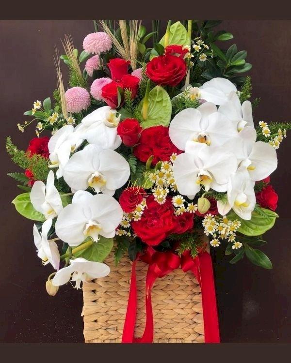 Giỏ hoa chúc mừng ngày của cha - LDNK249