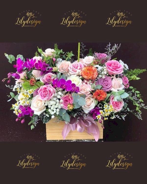 Giỏ hoa chúc mừng ngày của mẹ - LDNK248