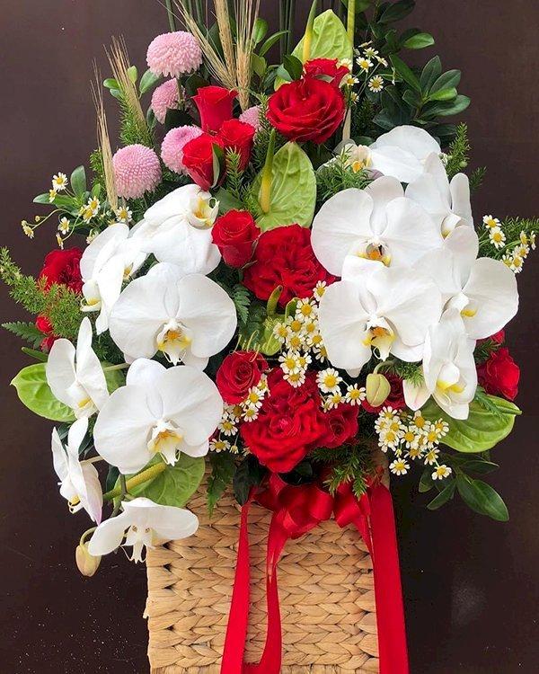 Giỏ hoa chúc mừng ngày phụ nữ việt nam - LDNK171