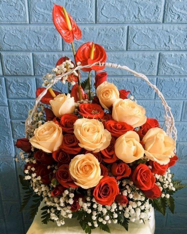 Giỏ hoa chúc mừng sinh nhật bà nội - LDNK250