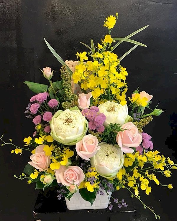 Giỏ hoa chúc mừng sinh nhật mẹ yêu - LDNK177