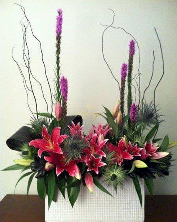 Hộp hoa tươi để bàn trang trí - LDNK159