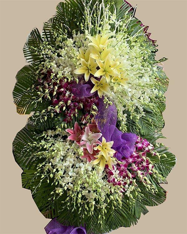 Vòng hoa chia buồn viếng tang lễ - LDNK209