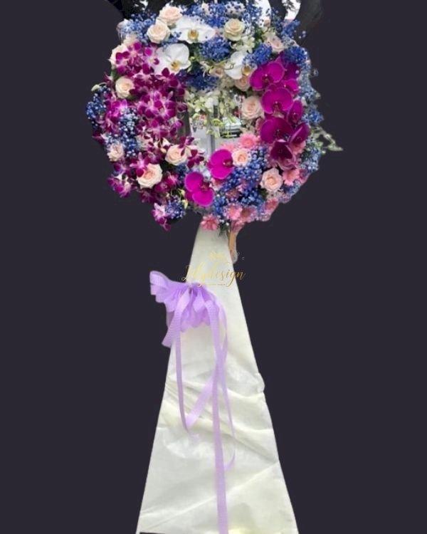 Vòng hoa tang lễ chia buồn sang trọng - LDNK238