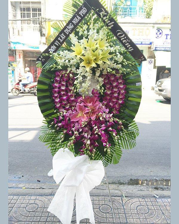 Vòng hoa tang lễ đám ma kính viếng - LDNK210
